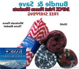 Wholesale Case Packed Fleece Throw Blankets & Decorative Fur