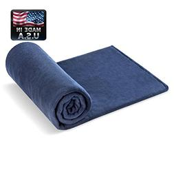 Melissa's Weighted Blankets Made in The USA  Navy 10 Varieti