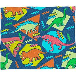 Deny Designs Chobopop, Nineties Dinosaur Pattern, Fleece Thr