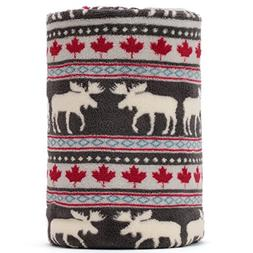 COSMOZ Christmas Elk Maple Leaf Pattern Dark Grey Background