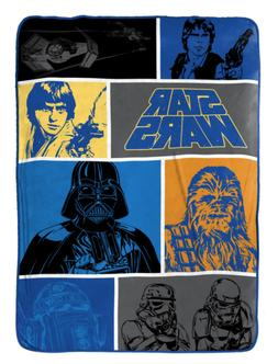 "Star Wars Classic Fleece 62"" x 90"" Twin Blanket"