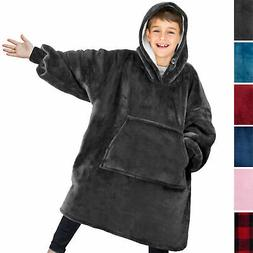 comfy hoodie sweatshirt wearable blanket for kids