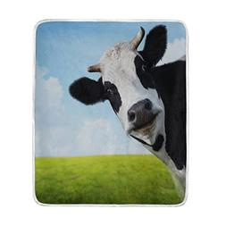 Cooper girl Funny Cow Throw Blanket Soft Warm Bed Couch Blan