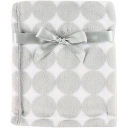 Luvable Friends Coral Fleece Blanket Gray Dot