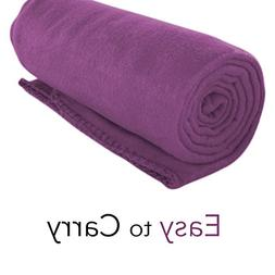 Imperial Home Cozy 50 X 60 Fleece Throw Blanket -Purple