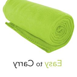 Imperial Home Cozy 50 X 60 Fleece Throw Blanket -Lime Green