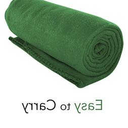 Imperial Home Cozy 50 X 60 Fleece Throw Blanket -Green