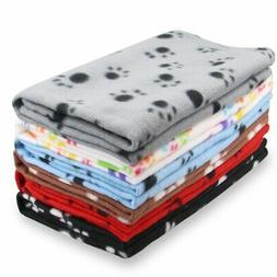 EAGMAK Cute Dog Cat Fleece Blankets with Pet Paw Prints for