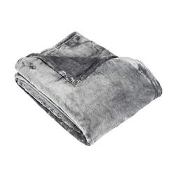 PH Decorative Bright Colorful Silver Fleece Throw Bed Blanke