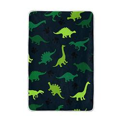 ALAZA Dinosaur Animal Polyester Plush Throws Siesta Camping