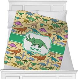 "Dinosaurs Fleece Blanket - Toddler / Throw - 60""x50"" - Singl"