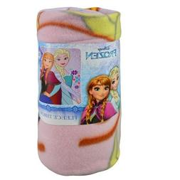 Disney Frozen Elsa & Anna 100% Fleece Soft & Warm Throw For