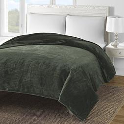 Comfy Bedding Double-layer Fleece Bed Blanket Sage