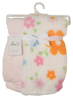 Cudlie! Double Sided Infant Blanket Printed Sherpa and Flann