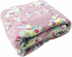 easter spring throw blanket floral bunnie egg