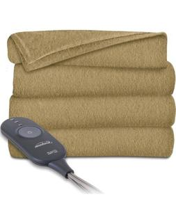 Electric Heated Throw Blanket Soft Fleece Warm Heat Control