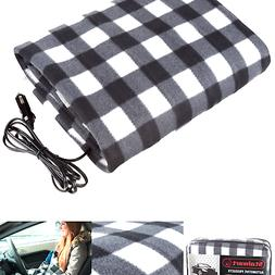 Electric Heater Car Blanket- Heated Travel Throw Electric Bl