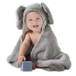 Elephant Grey Baby Hooded Plush Towel Cotton Baby Shower Gif