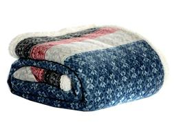 Eddie Bauer FairIsle Sherpa Reversible Throw, 50 by 70-Inch,