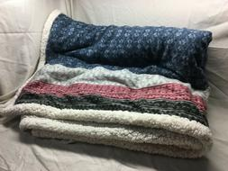 fairisle sherpa reversible throw 50 by 70