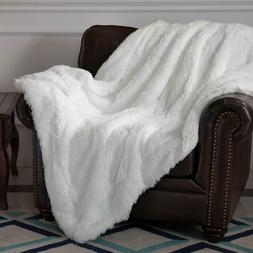Faux Throw Sherpa Fur Blanket Fleece Reversible Flannel Sofa