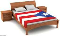 Fuzzy FlagsTM Fleece Puerto Rico Flag Blanket - 6.5 ft. x 4