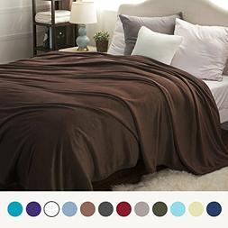 flannel fleece blanket brown queen