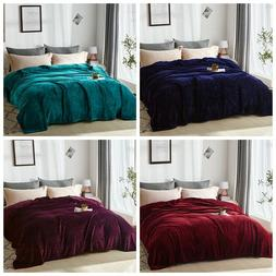 Flannel Fleece Blanket Queen/King Super Soft Lightweight Bed