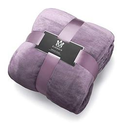Kingole Flannel Fleece Luxury 350GSM Lavender Purple Twin Si
