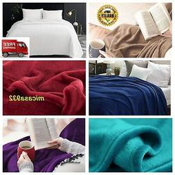 Bedsure Flannel Fleece Luxury Throw Blanket Lightweight Cozy