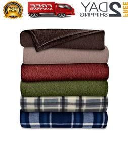 Fleece Blanket Electric Heated Throw Super Soft Electric Con