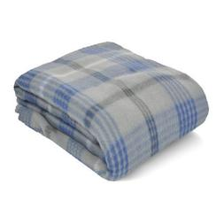 fleece blanket grey plaid