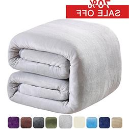 SOFTCARE Fleece Blanket King Size 350GSM Throw Blanket Super
