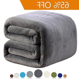 Richave Fleece Blanket Queen Size 350GSM Lightweight Throw f
