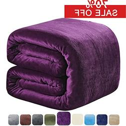 SOFTCARE Fleece Blanket Queen Size 350GSM Throw Blanket Supe