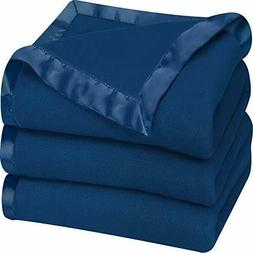 Sateen Fleece Blanket Polar Extra Soft Brushed Fabric Super