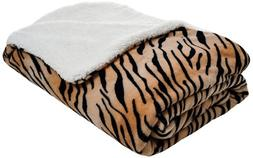 Lavish Home Fleece Blanket Sherpa Backing - Full/Queen