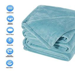 """Sonoro Kate Fleece Blanket Soft Warm Throw Size 60"""" X 43"""" In"""