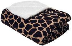 Lavish Home Fleece Blanket with Sherpa Backing - KING SIZE -