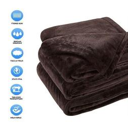 """Fleece Blankets Sonoro Kate Soft Warm Queen Size 90"""" x 90"""" I"""