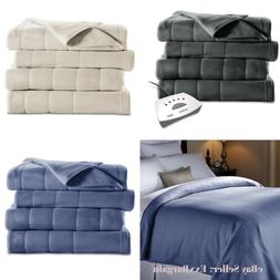 Sunbeam Fleece Electric Heated Blanket King Queen Full Twin