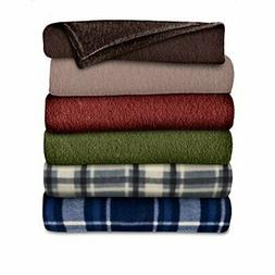 Sunbeam Heated Throw Blanket | Fleece, 3 Heat Settings, Asso