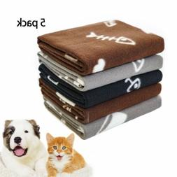 Fleece Pet Blanket Washable Warm Soft Bed Cushion for Dog Ca