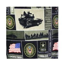 ArtOFabric Fleece Printed Army Strong Print Throw Blanket 58