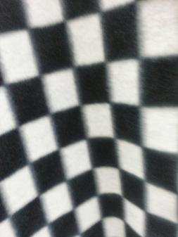 ArtOFabric Fleece Printed Black and White Checkered Print Th