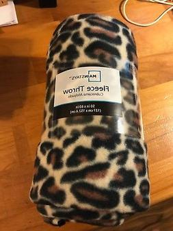 Mainstays Fleece Throw Blanket  - Traditional Leopard Print