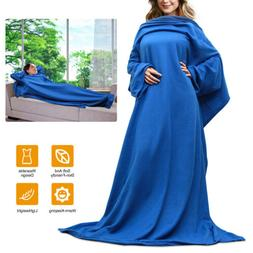 fleece wearable blanket with sleeves cozy micro