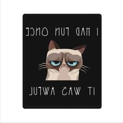Funny Grumpy Cat Fleece Blankets 50 x 60 inches