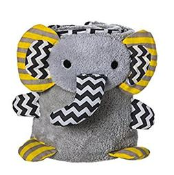 grey chevron elephant rolled baby