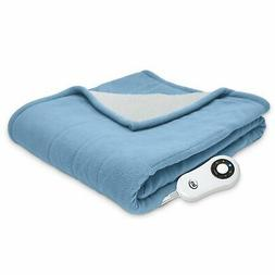Serta | Reversible Sherpa/Fleece Heated Electric Throw Blank